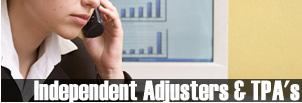 Independent Adjusters & TPA's
